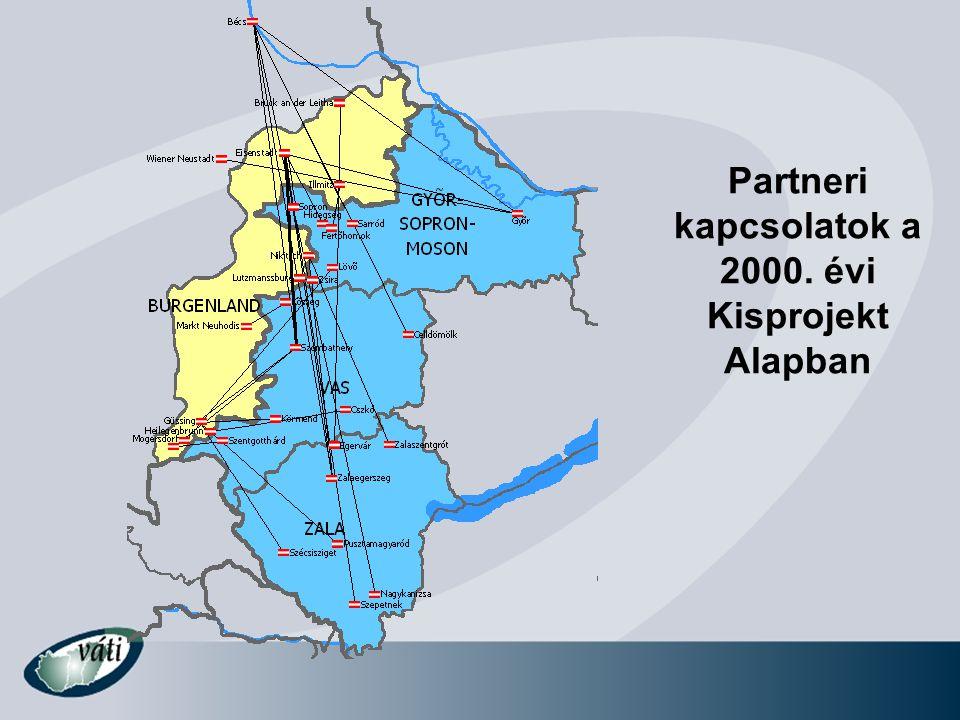 Néhány Phare CBC kulcsprojekt •Ipari parkok és innovációs központok (Győr, Szombathely, Szentgotthárd, Sopron), Lenti Inkubátor Ház, Győr Trade Center •Határhoz, ipari parkokhoz vezető utak felújítása, regionális repülőtér (Győr-Pér), Ro-Ro Port •Közös kerékpáros turizmus valamint natúrpark fejlesztések (Őrség-Raab, Kőszeg-Irottkő) •Humán erőforrások fejlesztése (Európa Tanulmányok Intézete, Pályaorientációs trénerek képzése) •Regionális Fejlesztési Terv, Hármas-határ fejlesztési stratégiák