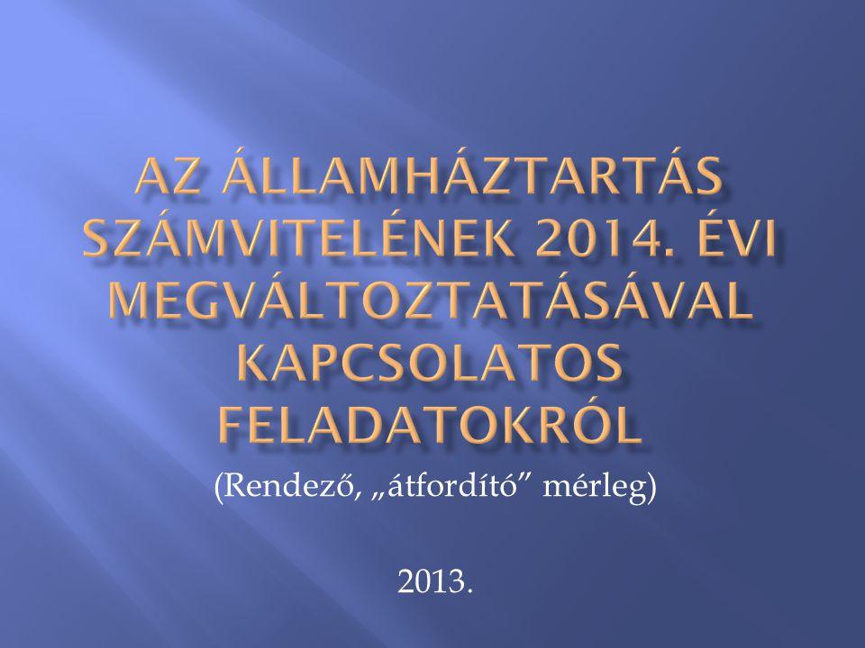 """(Rendező, """"átfordító"""" mérleg) 2013."""