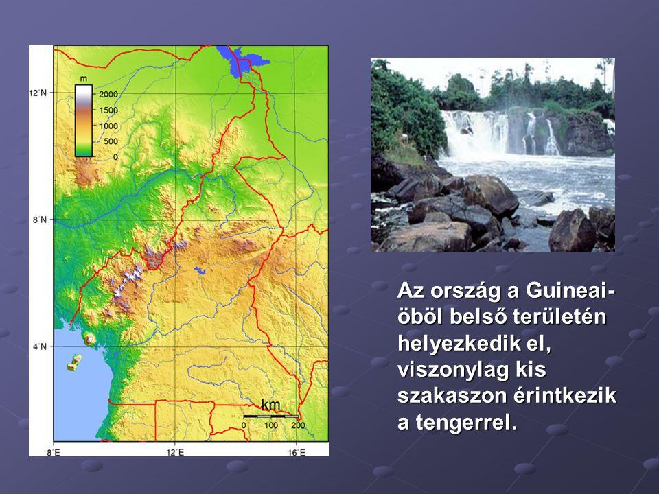 Az ország a Guineai- öböl belső területén helyezkedik el, viszonylag kis szakaszon érintkezik a tengerrel.