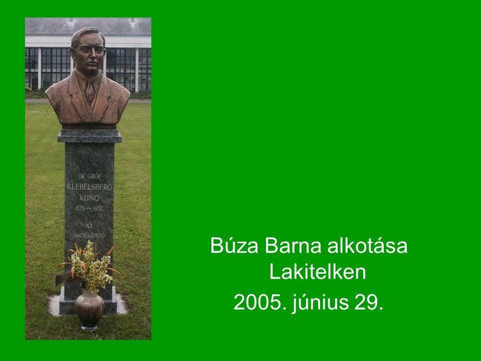 Búza Barna alkotása Lakitelken 2005. június 29.