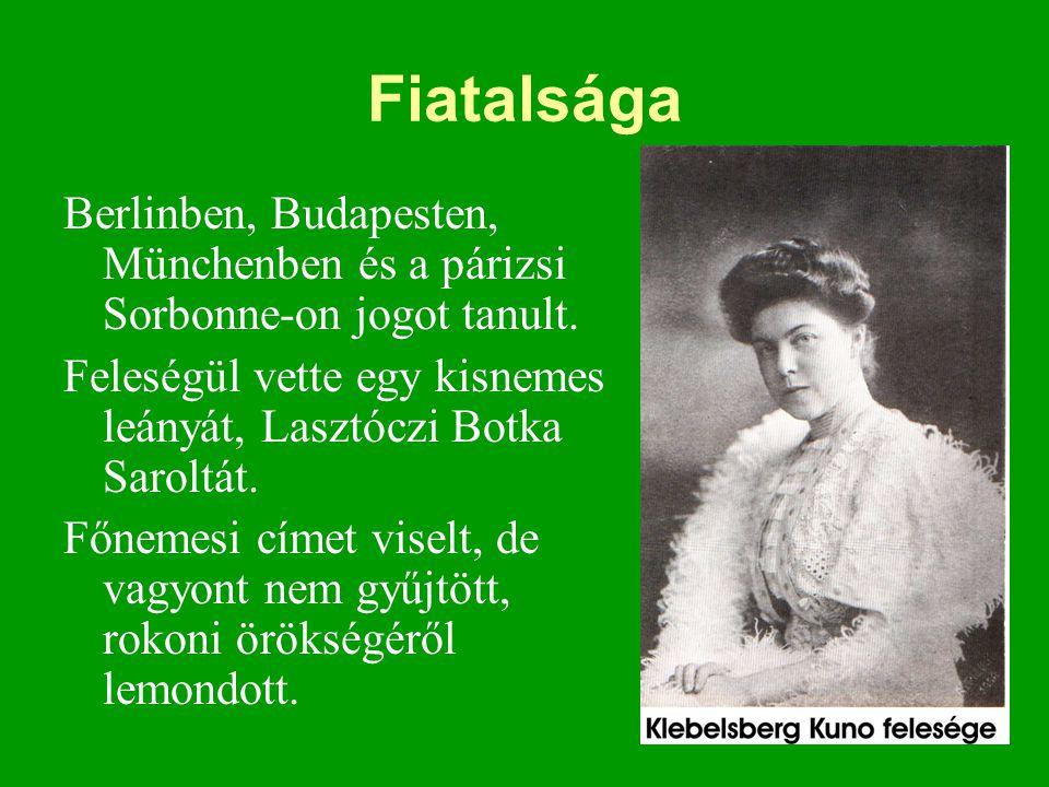 Fiatalsága Berlinben, Budapesten, Münchenben és a párizsi Sorbonne-on jogot tanult. Feleségül vette egy kisnemes leányát, Lasztóczi Botka Saroltát. Fő