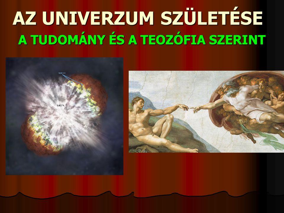 AZ UNIVERZUM SZÜLETÉSE A TUDOMÁNY ÉS A TEOZÓFIA SZERINT