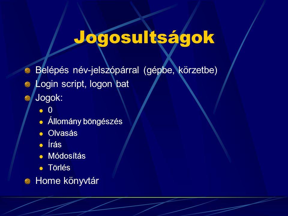 Szerverek Funkciók szerint:  Fájl  Applikációs  Nyomtató  WWW, mail, … Operációs rendszer szerint:  NT, Windows 2000  Novell  UNIX - Linux