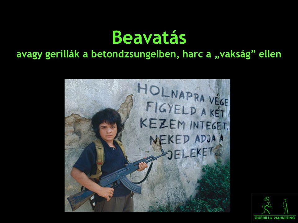 """Beavatás avagy gerillák a betondzsungelben, harc a """"vakság"""" ellen"""