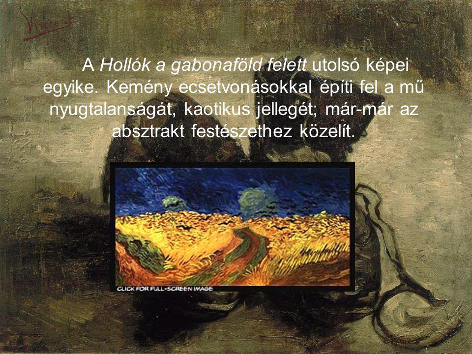 A Hollók a gabonaföld felett utolsó képei egyike.