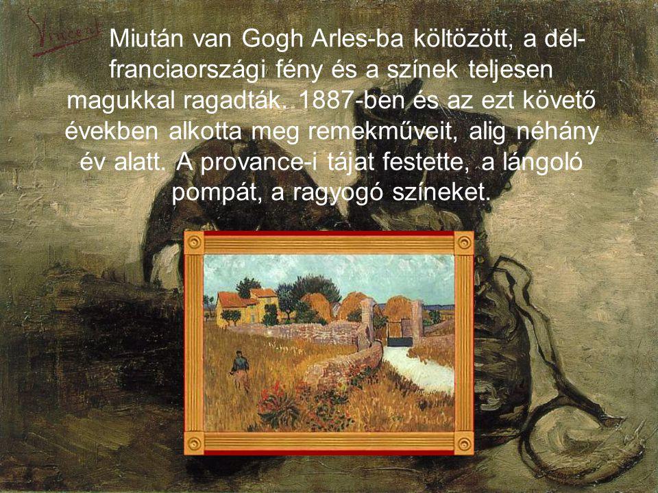 Miután van Gogh Arles-ba költözött, a dél- franciaországi fény és a színek teljesen magukkal ragadták.