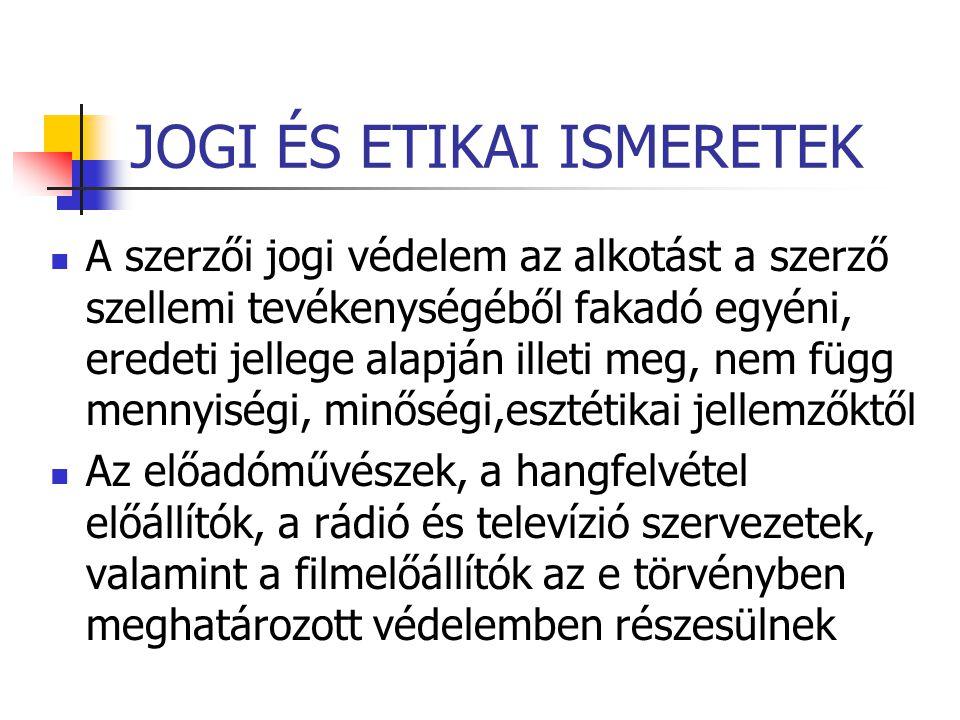 JOGI ÉS ETIKAI ISMERETEK  XII.