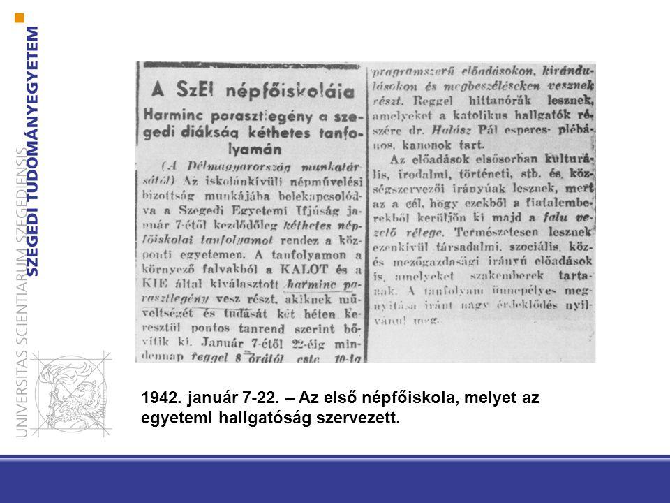 HALLGATÓI DEMOKRÁCIA-KÍSÉRLETEK (1940, 1945, 1956) Magyar Demokratikus Ifjúsági Szövetség (MADISZ) 1944.