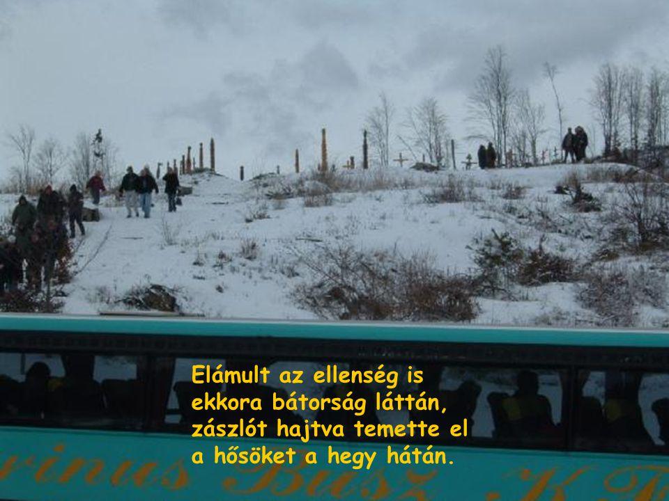 Végül csellel, árulással délre körülvették őket, meg nem adta magát székely, mint a szálfák, kettétörtek.
