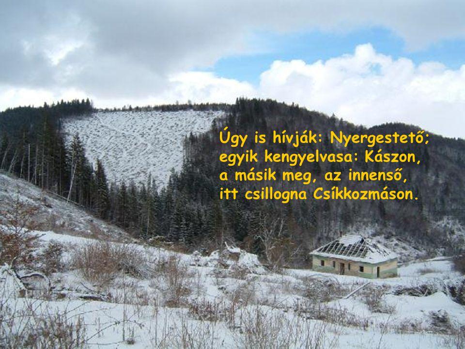 van ott a sok nagy hegy között egy szelíden, szépen hajló, mint egy nyereg, kit viselne mesebeli óriás ló.