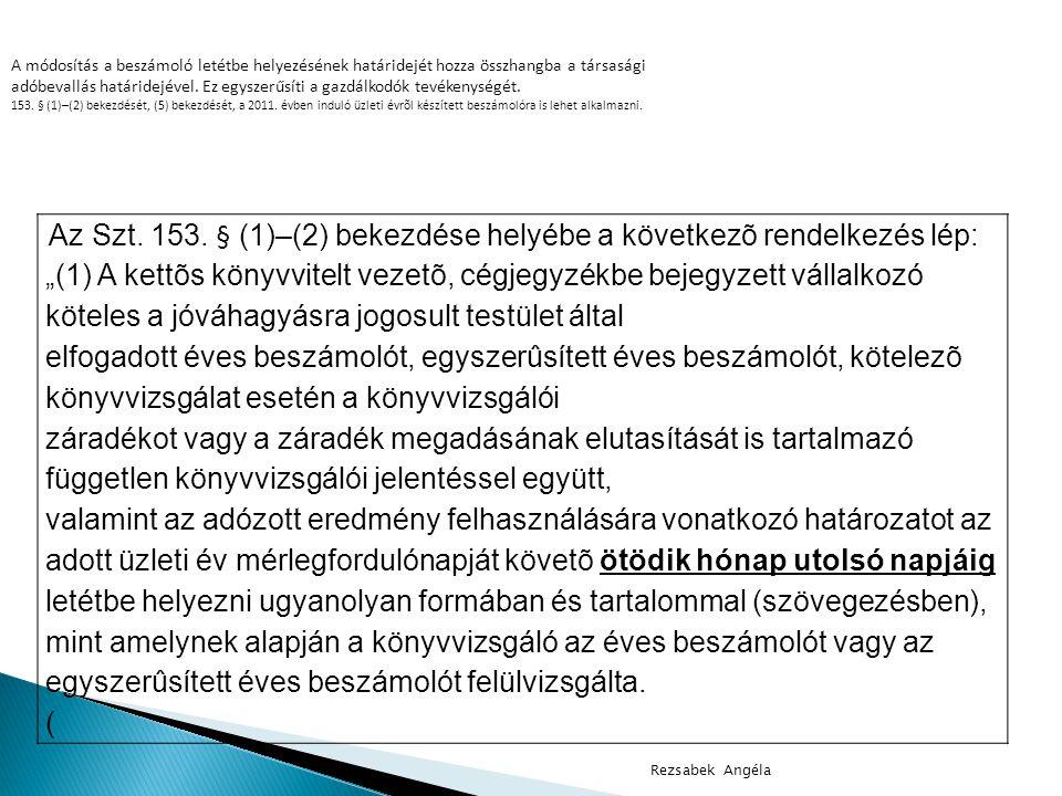 Az Szt.153.