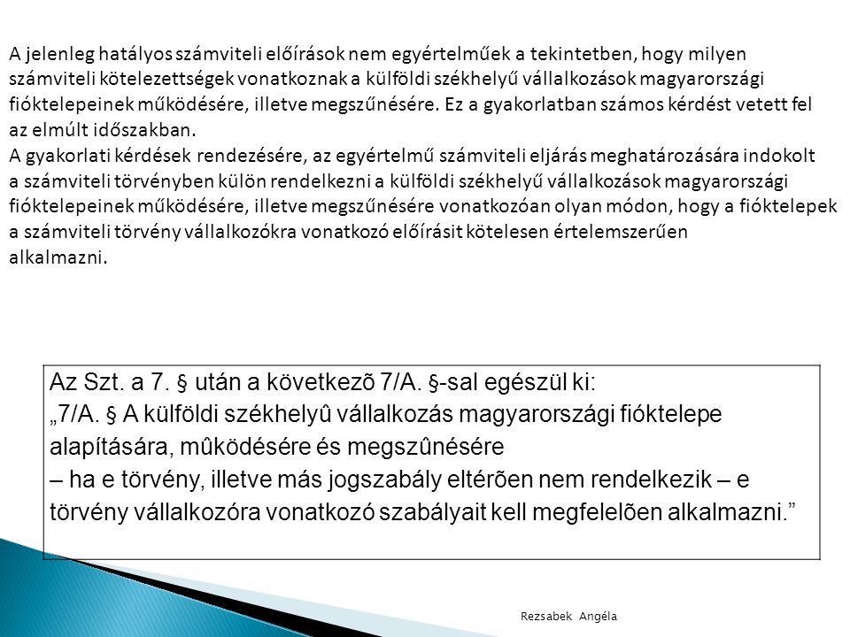 Rezsabek Angéla Így az értékelési szabályzatban kell meghatározni • hogyan történik a tárgyi eszközök bekerülési értékébe tartozó tételek gyűjtése • hogyan kell azt az üzembe helyezési jegyzőkönyvbe foglalni • ki annak a vállalkozáson belüli felelőse • a rendeltetésszerű használatbavételkor ki az a felelős munkakörben lévő vezető, aki igazolja a bekerülési értékbe tartozó tételek teljességét, helyességét, valódiságát, tárgyi eszközönkénti megbontását, az üzembe helyezés napját Az értékelési szabályzatban kell rögzíteni eszközcsoportonként az üzembe helyezés, a rendeltetésszerű használatbavétel feltételeit, a feltételek teljesülésének dokumentumait.