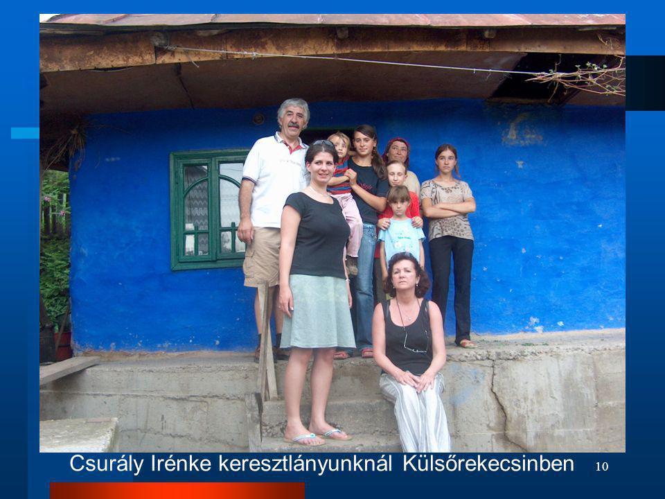 10 Csurály Irénke keresztlányunknál Külsőrekecsinben