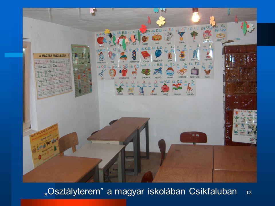 """12 """"Osztályterem"""" a magyar iskolában Csíkfaluban"""