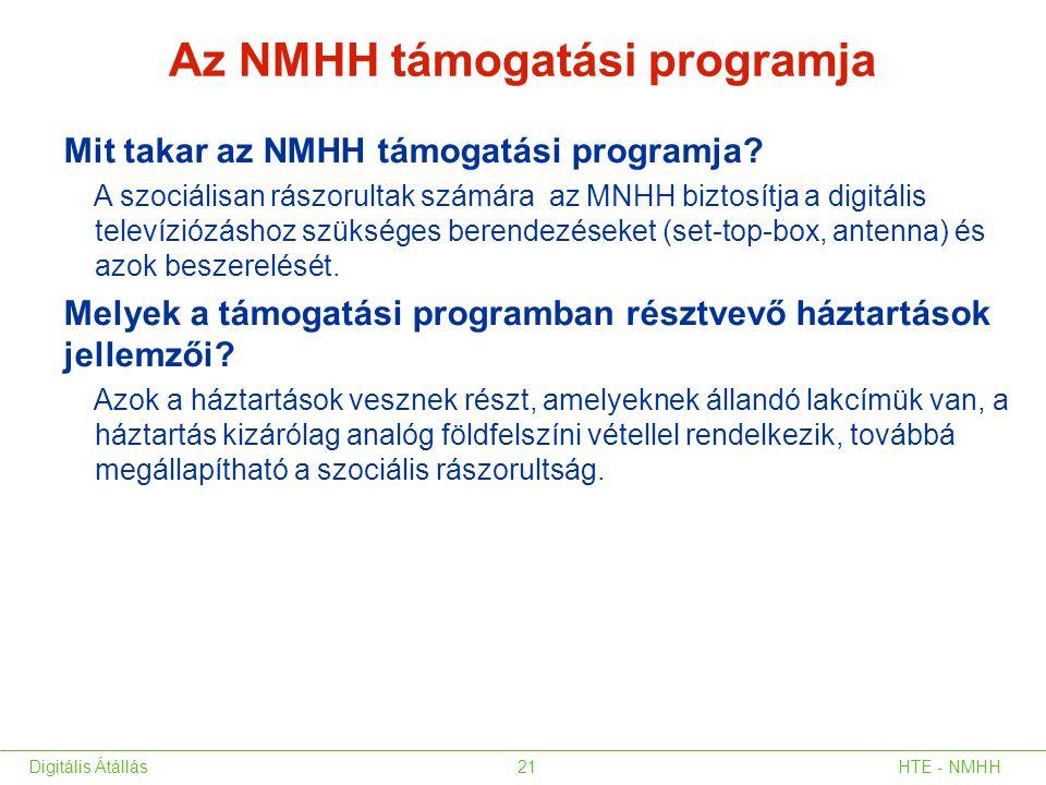 Mit takar az NMHH támogatási programja? A szociálisan rászorultak számára az MNHH biztosítja a digitális televíziózáshoz szükséges berendezéseket (set