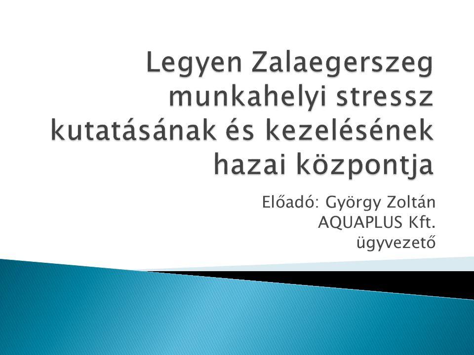 Előadó: György Zoltán AQUAPLUS Kft. ügyvezető