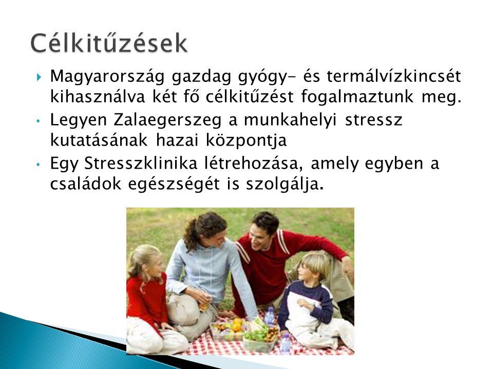  Magyarország gazdag gyógy- és termálvízkincsét kihasználva két fő célkitűzést fogalmaztunk meg.