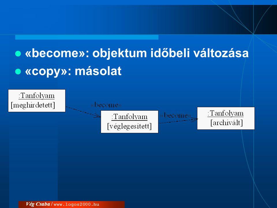 Vég Csaba / www.logos2000.hu Objektumok és kapcsolatok