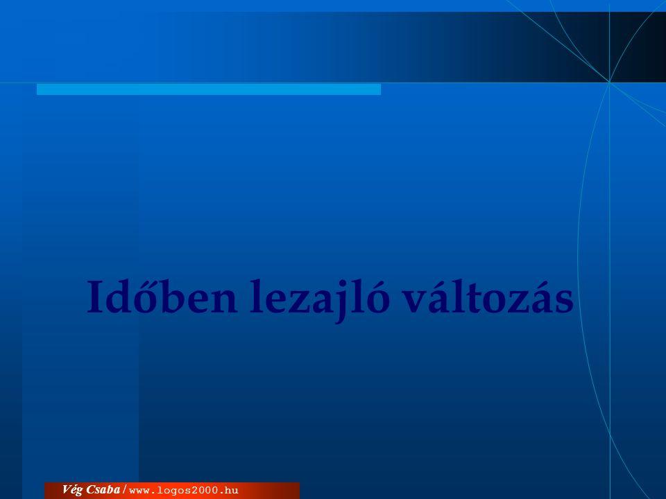 Vég Csaba / www.logos2000.hu Időben lezajló változás
