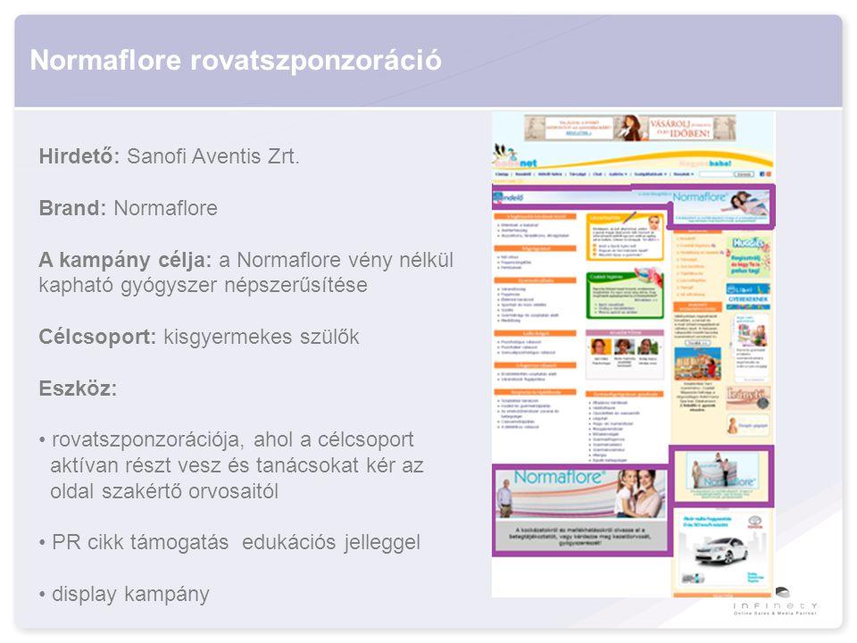 Normaflore rovatszponzoráció Hirdető: Sanofi Aventis Zrt.