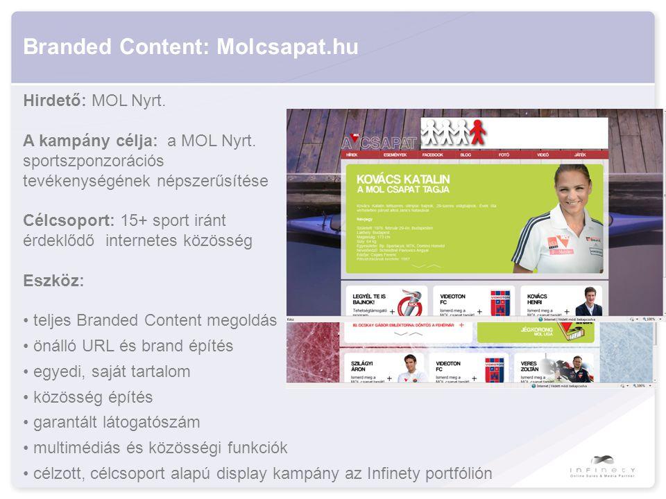 Branded Content: Molcsapat.hu Hirdető: MOL Nyrt. A kampány célja: a MOL Nyrt.