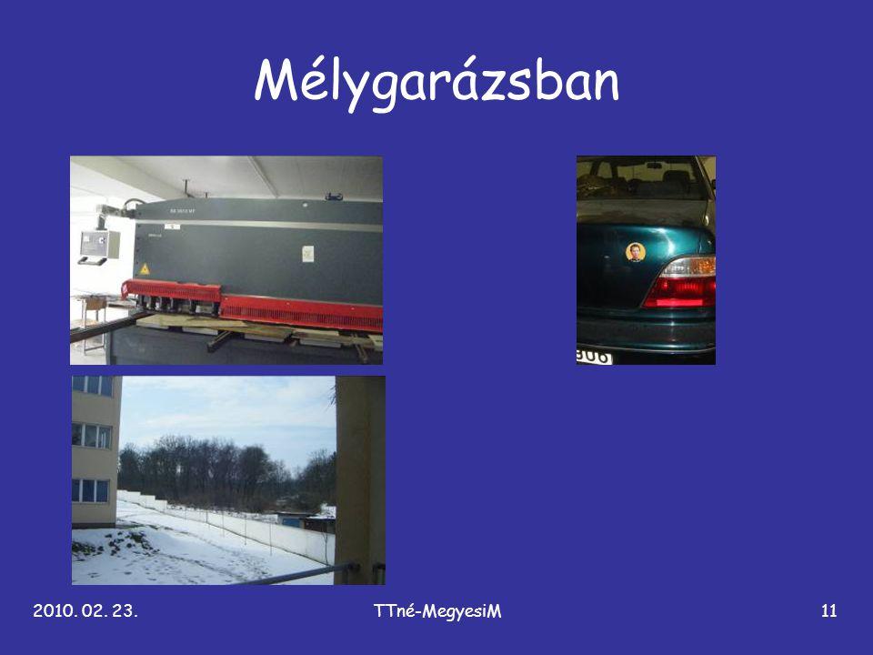 2010. 02. 23.TTné-MegyesiM11 Mélygarázsban