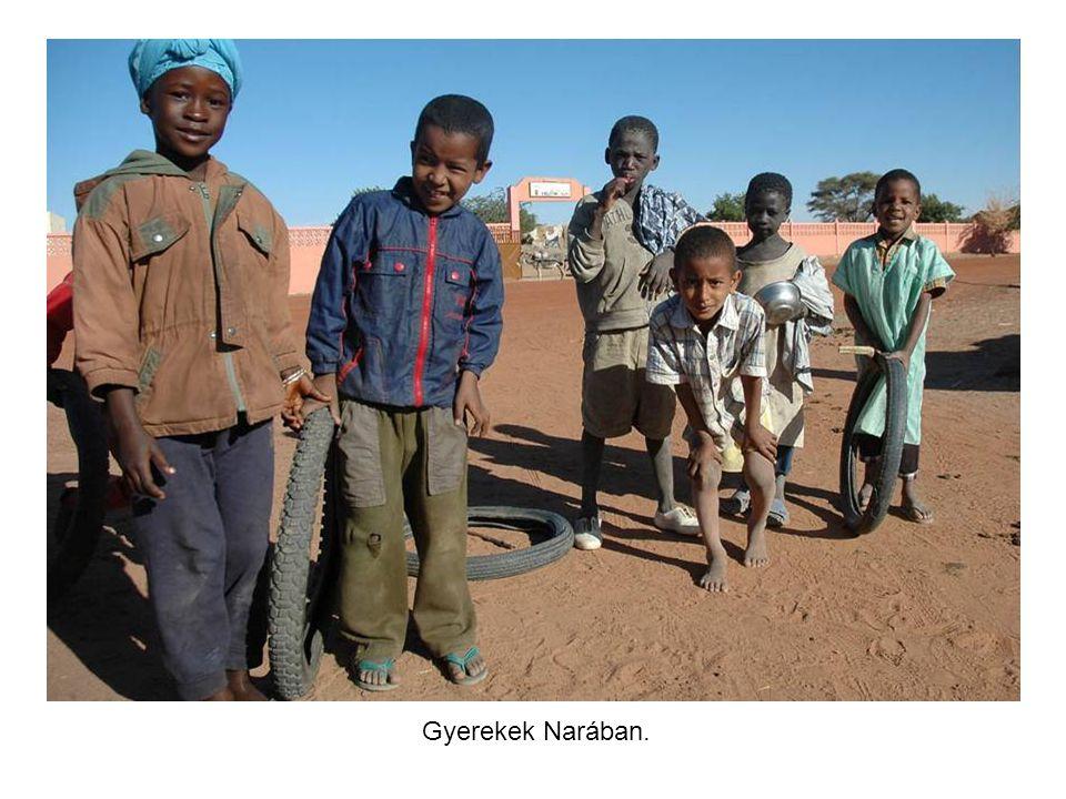 Főutca a Nara nevű városkában, Maliban. Nagy szeretettel fogadtak minket.