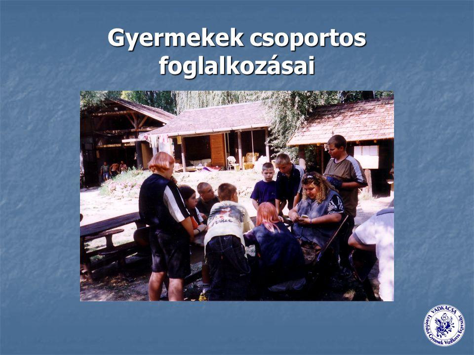 Gyermekek csoportos foglalkozásai