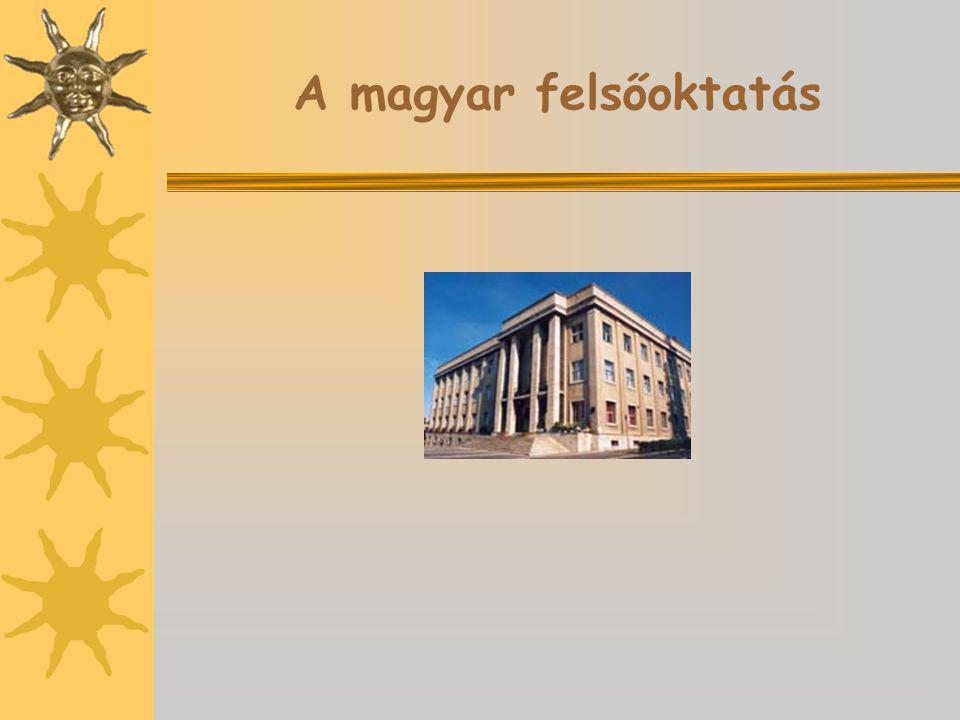 A magyar felsőoktatás