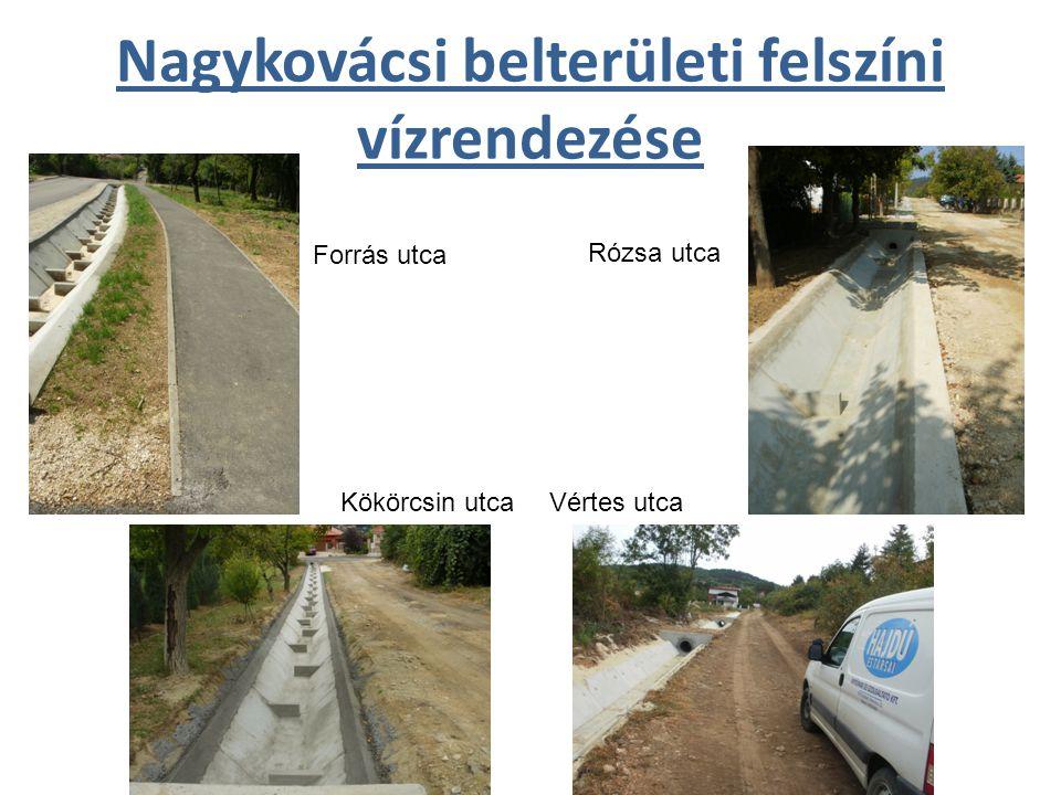 Nagykovácsi belterületi felszíni vízrendezése Forrás utca Kökörcsin utca Rózsa utca Vértes utca
