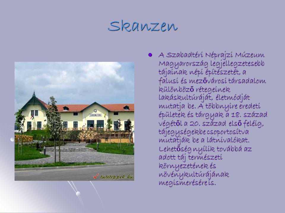Skanzen AAAA Szabadtéri Néprajzi Múzeum Magyarország legjellegzetesebb tájainak népi építészetét, a falusi és mezővárosi társadalom különböző rétegeinek lakáskultúráját, életmódját mutatja be.