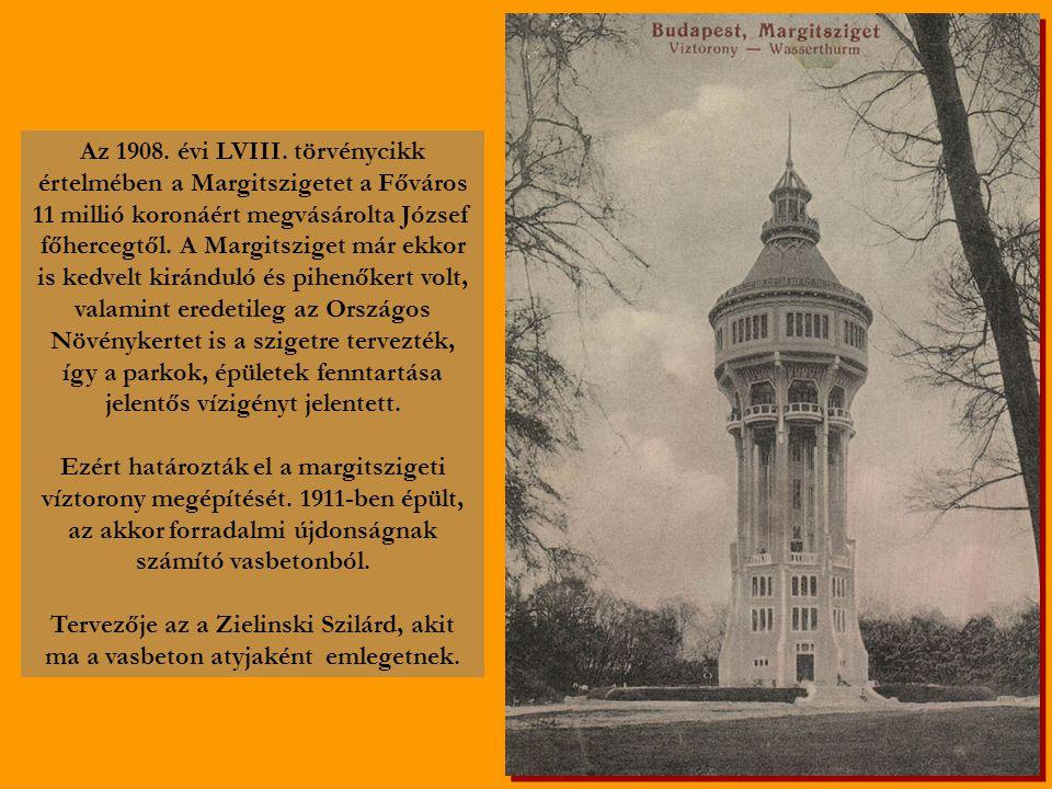A húszas évek kedvelt és látogatott parkjában állt a torony, ahol (a látvány mellett) ilyen és hasonló képeslapokkal örvendeztették meg az odalátogatókat.