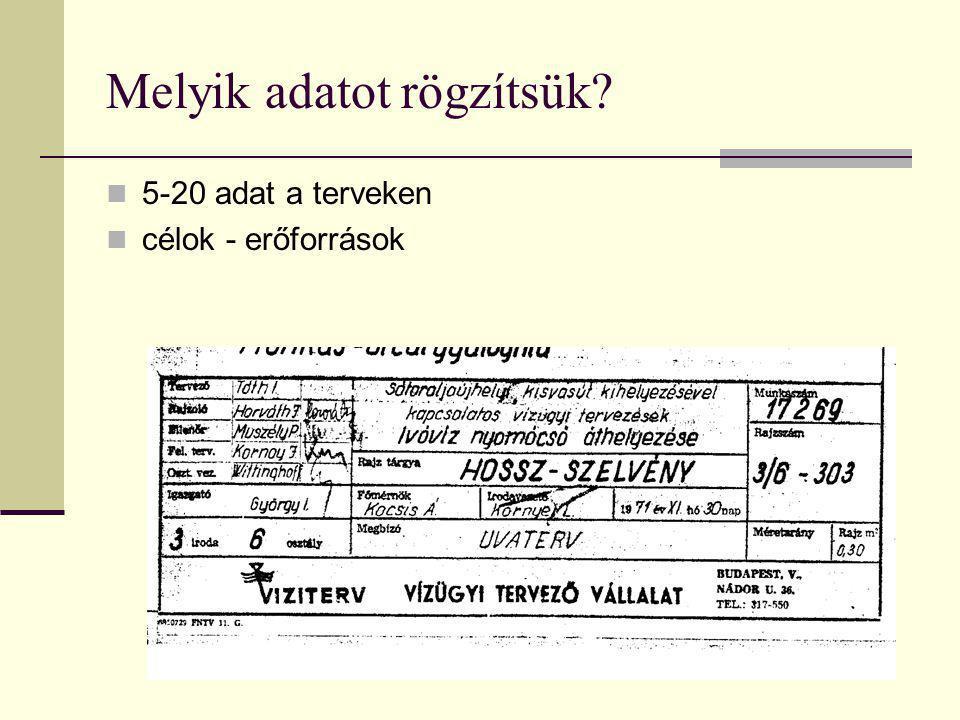 Előzmény: nincs szövegmező  kevesebb adat  feliratok a terven szétszórtan  1940-es évek második felétől terjed a szövegmező használata még szabvány nélkül