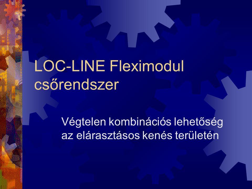LOC-LINE Fleximodul csőrendszer Végtelen kombinációs lehetőség az elárasztásos kenés területén
