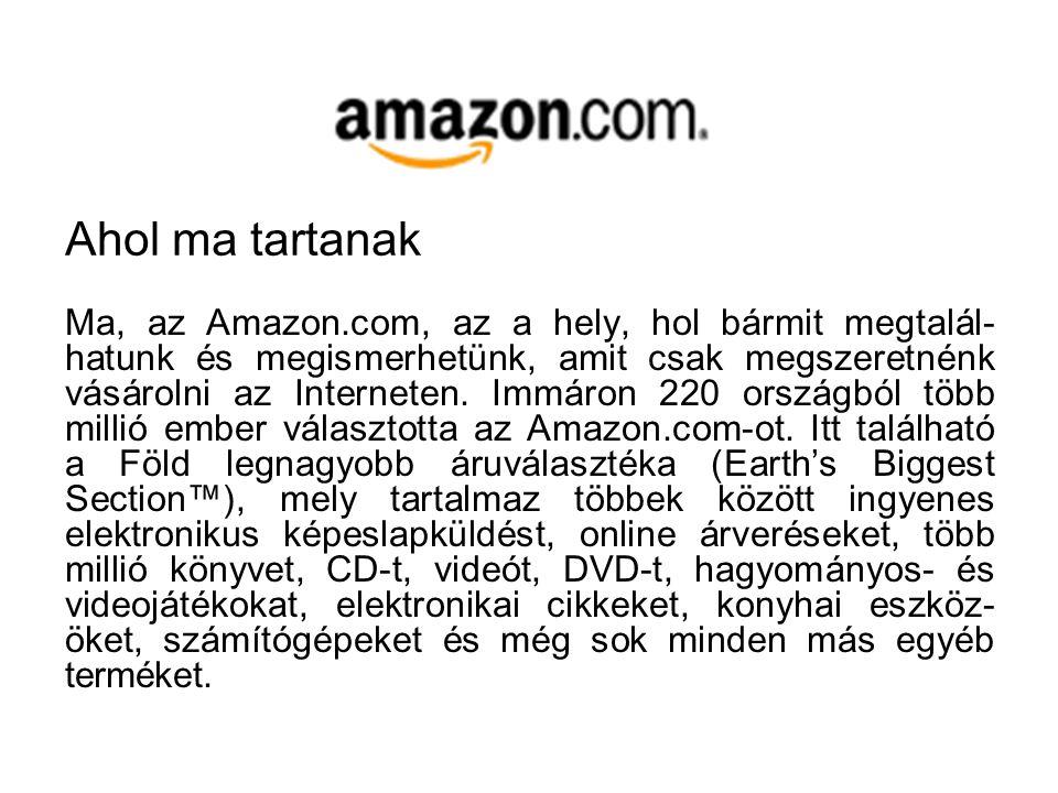 Az Amazon.com 1995. júliusában nyitotta meg virtuális kapuit a vásárlók részére azzal a céllal, hogy a könyv- vásárlást az Internet segítségével gyors