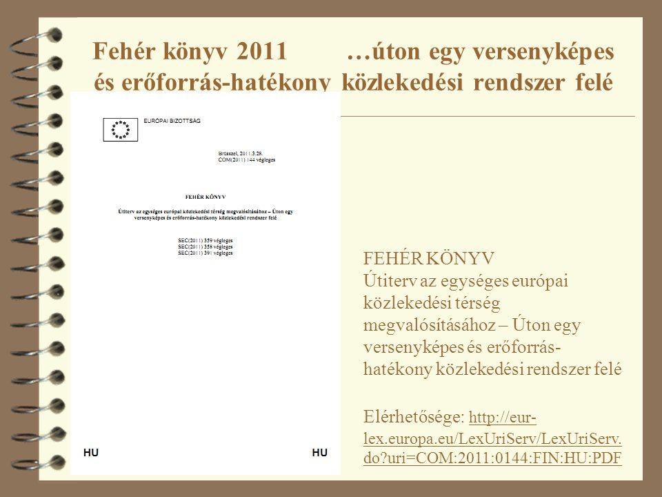 Fehér könyv 2011 …úton egy versenyképes és erőforrás-hatékony közlekedési rendszer felé FEHÉR KÖNYV Útiterv az egységes európai közlekedési térség meg
