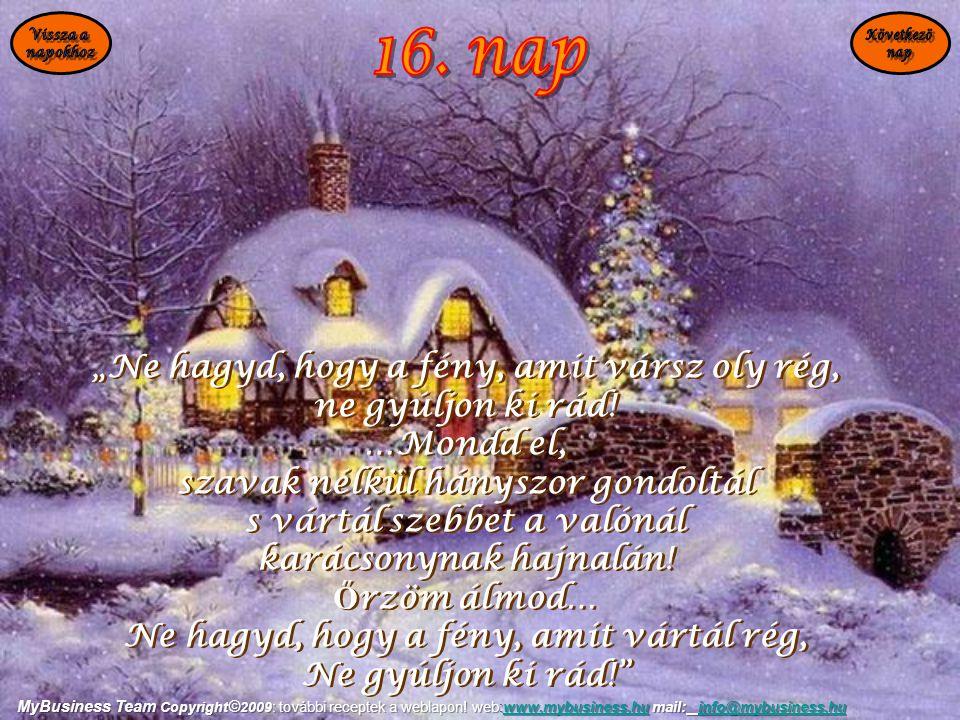 """""""Ne hagyd, hogy a fény, amit vársz oly rég, ne gyúljon ki rád! …Mondd el, szavak nélkül hányszor gondoltál s vártál szebbet a valónál karácsonynak haj"""