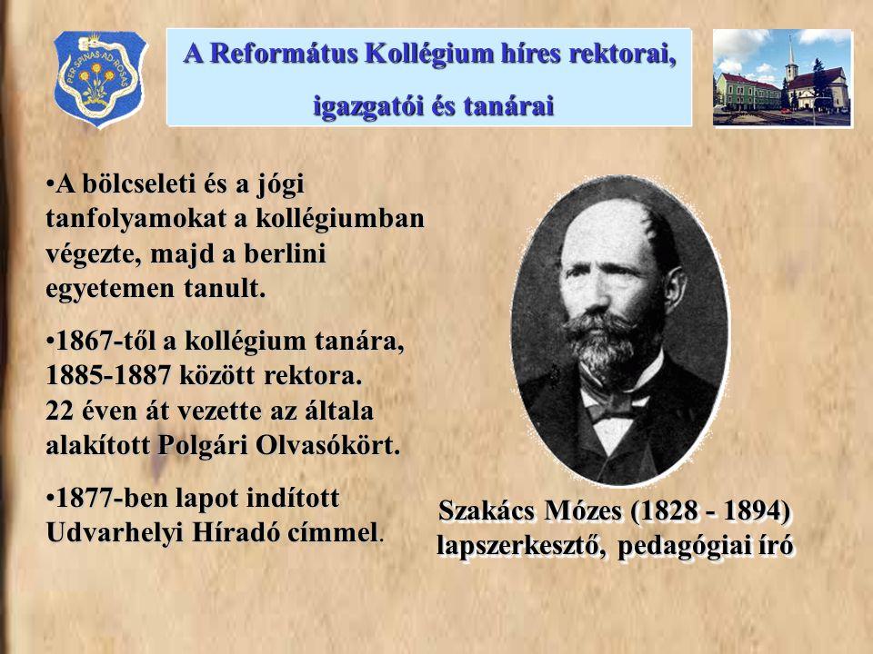 •A bölcseleti és a jógi tanfolyamokat a kollégiumban végezte, majd a berlini egyetemen tanult. •1867-től a kollégium tanára, 1885-1887 között rektora.