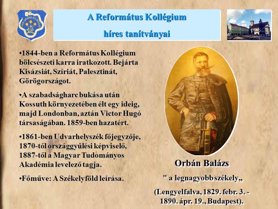 •1844-ben a Református Kollégium bölcsészeti karra iratkozott. Bejárta Kisázsiát, Szíriát, Palesztinát, Görögországot. •A szabadságharc bukása után Ko