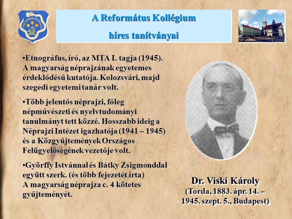•Etnográfus, író, az MTA I. tagja (1945). A magyarság néprajzának egyetemes érdeklődésű kutatója. Kolozsvári, majd szegedi egyetemi tanár volt. •Több