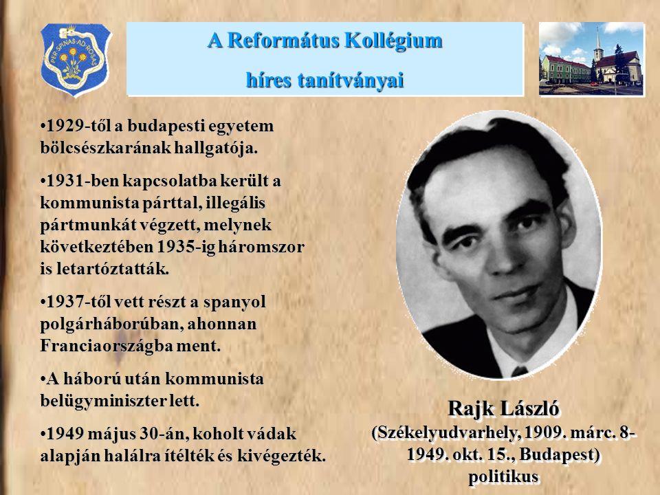 •1929-től a budapesti egyetem bölcsészkarának hallgatója. •1931-ben kapcsolatba került a kommunista párttal, illegális pártmunkát végzett, melynek köv