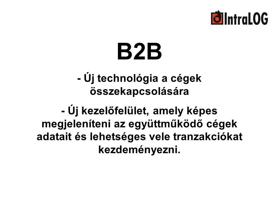 B2B - Új technológia a cégek összekapcsolására - Új kezelőfelület, amely képes megjeleníteni az együttműködő cégek adatait és lehetséges vele tranzakc