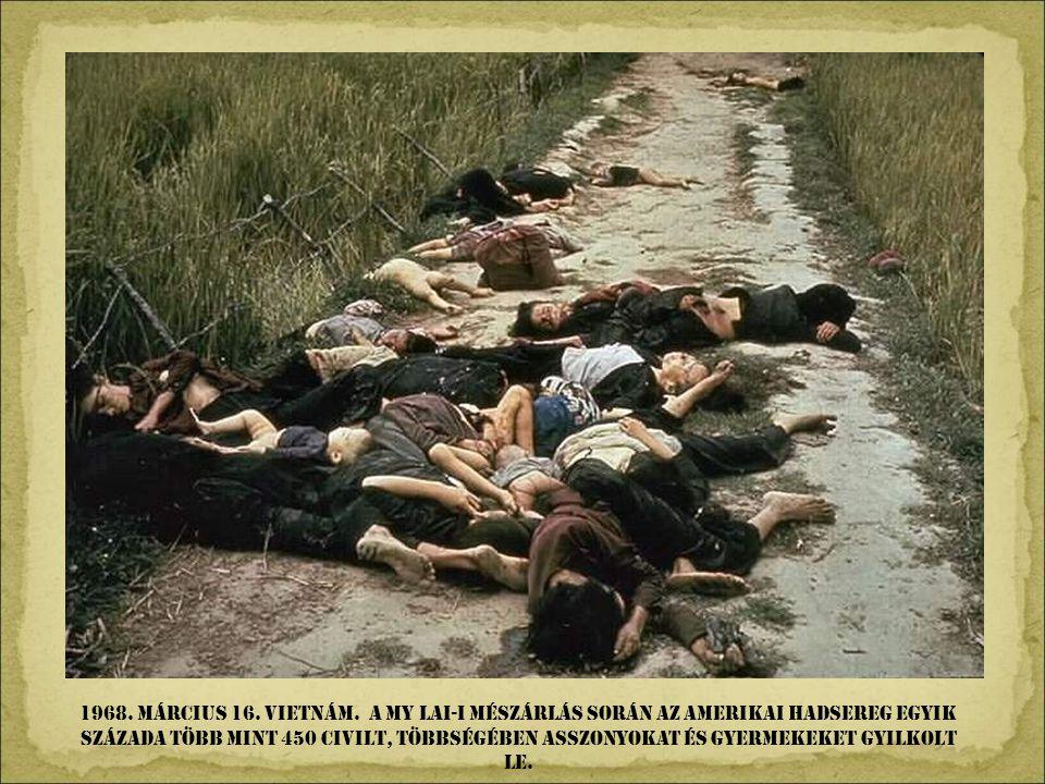 1967. OCToBeR 9. La higuera, BOLíVIA. Che Guevarát meggyilkolták a bolíviai hadsereg gerillák elleni támadása során.