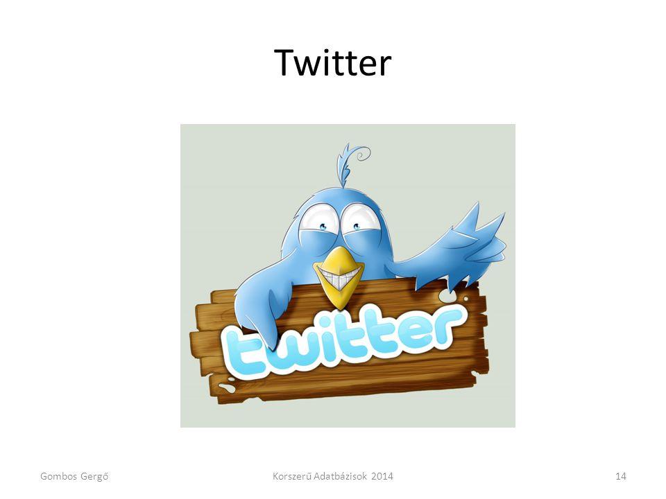 Twitter Gombos GergőKorszerű Adatbázisok 201414