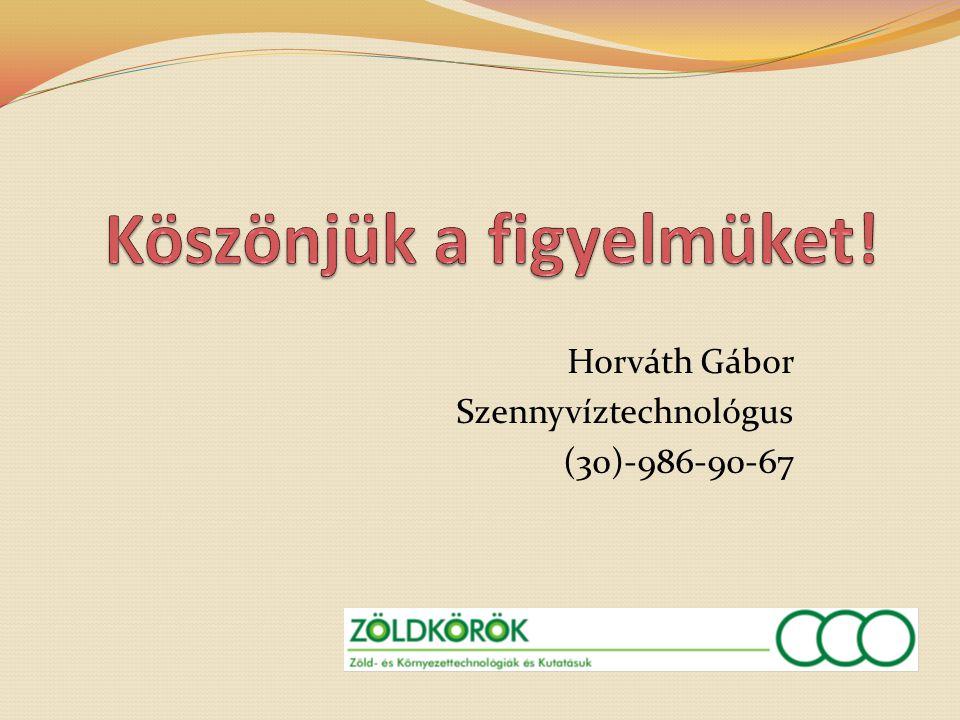 Horváth Gábor Szennyvíztechnológus (30)-986-90-67