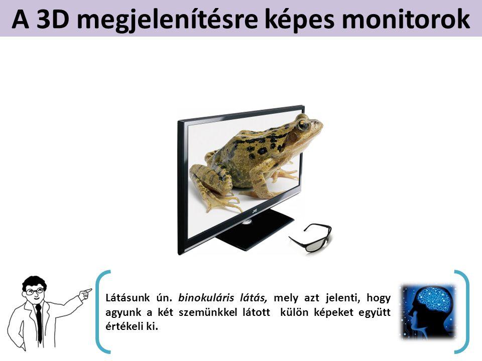 A 3D megjelenítésre képes monitorok Látásunk ún.