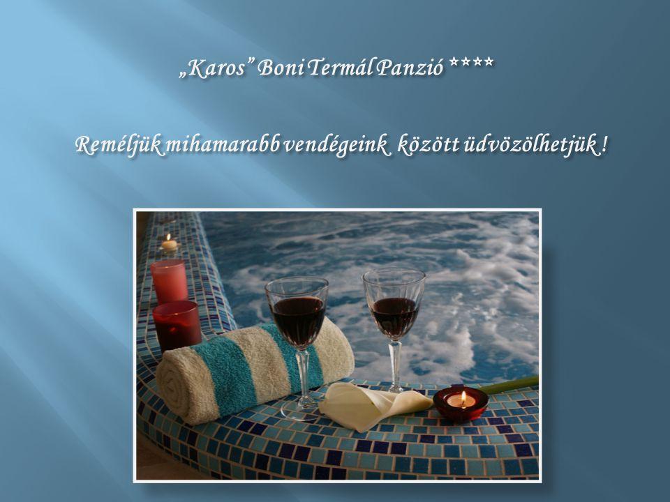 """""""Karos Boni Termál Panzió **** Reméljük mihamarabb vendégeink között üdvözölhetjük !"""