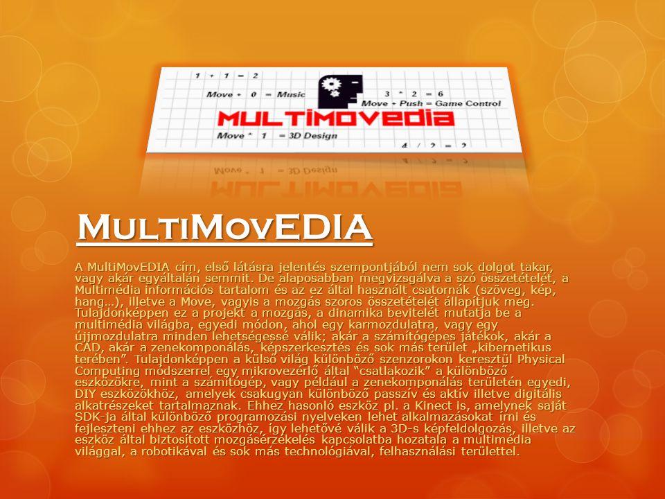 MultiMovEDIA A MultiMovEDIA cím, első látásra jelentés szempontjából nem sok dolgot takar, vagy akár egyáltalán semmit. De alaposabban megvizsgálva a