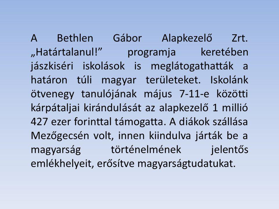A Bethlen Gábor Alapkezelő Zrt.