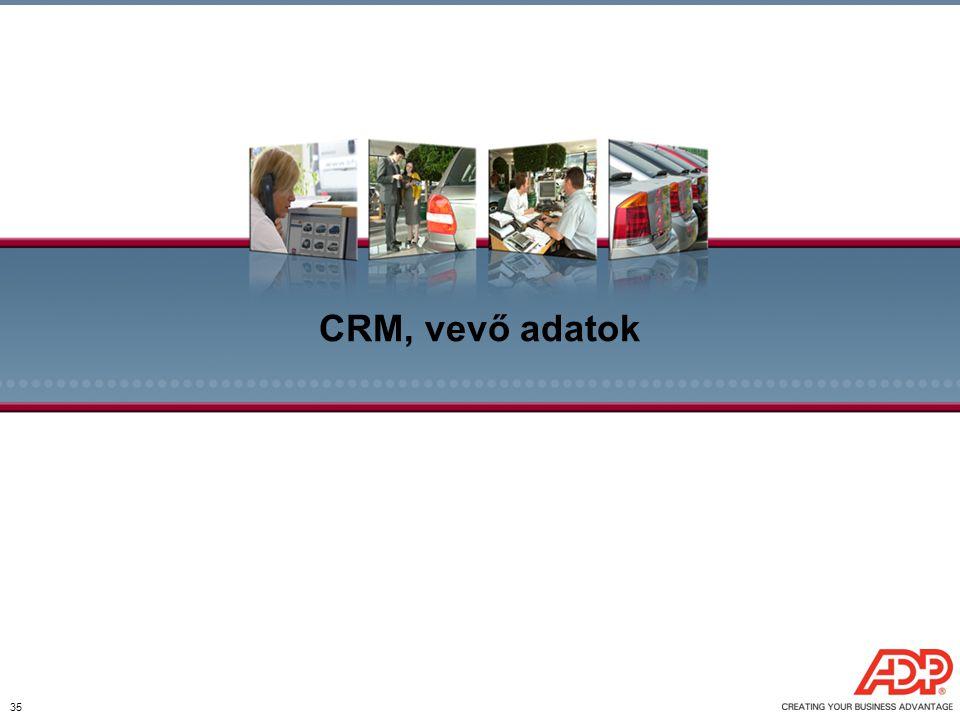 35 CRM, vevő adatok
